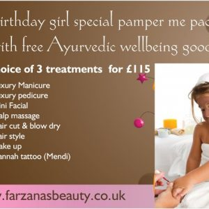 Birthday girl pamper package